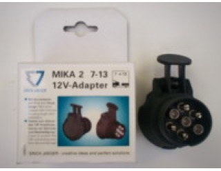 7 pin socket to 13 pin socket adaptor