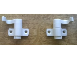 Hafele Hooks for Toilet & Wardrobe Doors White