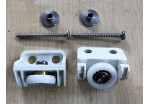 Ellbee Shower Door Bearing & Roller Kit White
