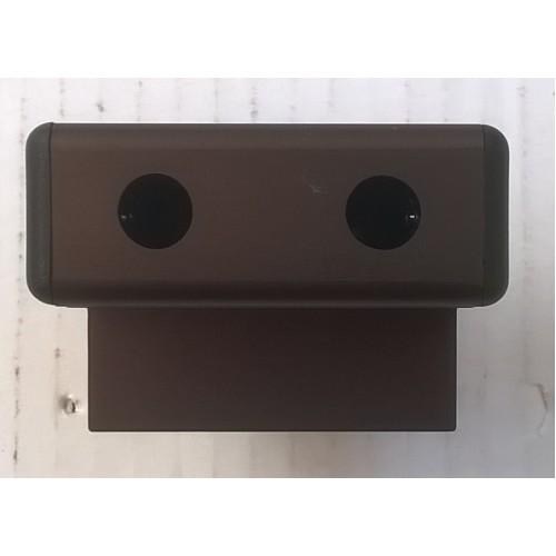 Spring Loaded Brown Metal Sliding Shower Door Latch