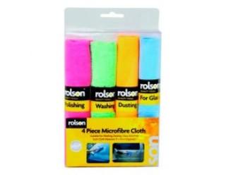 4 Piece Microfibre Cloth