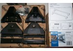 Commercial vehicle roof bar mounting kit for vehicles with fixpoint Volkswagen Transporter T5