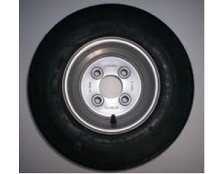 "Duuo Plus Spare Wheel 8"" with 4 x 100mm PCD 16.5 x 6.50-8 Tyre"