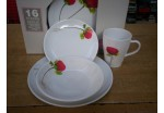 16 Piece Poppy Melamine Set