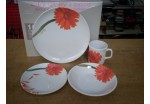 16 Piece Orange Gerbera Melamine Set