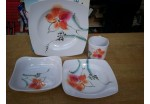 16 Piece Tiger Lilly Melamine Set