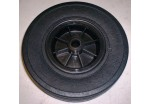 "9""/220mm Black Plastic Wheel with 20mm bore Solid Rubber Tyre"